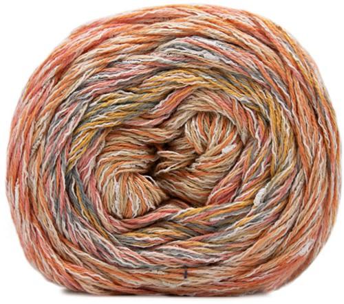 Lana Grossa Gomitolo Summer Tweed 012 Green / Yellow / Pink / Jeans / Light-/Gray Green