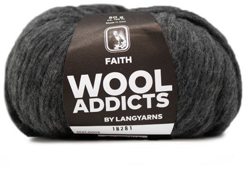 Lang Yarns Wooladdicts Faith 005 Grey Mélange
