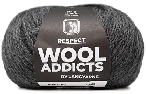 Lang Yarns Wooladdicts Respect 005 Grey Mélange