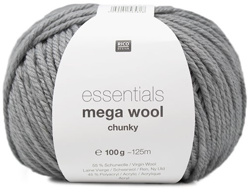 Rico Essentials Mega Wool Chunky 013 Light Grey