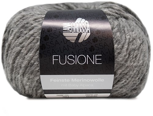 Lana Grossa Fusione 001 Light Grey Mixed
