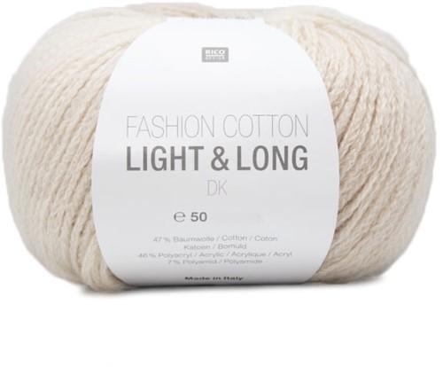 Rico Fashion Cotton Light & Long DK 01 Ecru