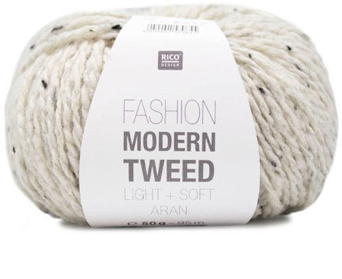 Rico Fashion Modern Tweed Aran 001 Creme