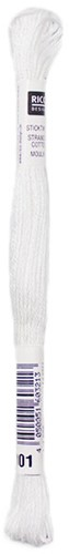 Rico Sticktwist Embroidery Floss 8m 001 White