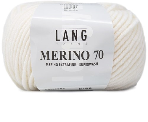 Lang Yarns Merino 70 001 White