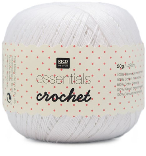 Rico Essentials Crochet 1 White