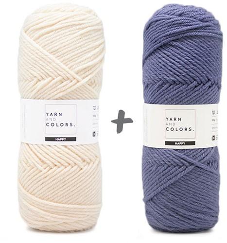 Reversible Dream Blanket 3.0 CAL Crochet Kit 10 Denim (Accent Colour)