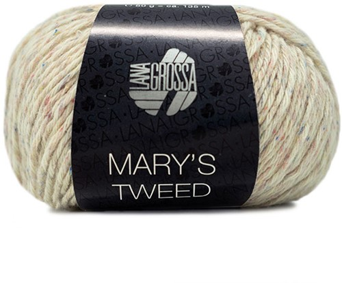 Lana Grossa Mary's Tweed 003 Natural Mottled
