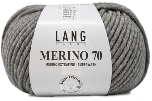 Lang Yarns Merino 70 003 Light Grey Mélange