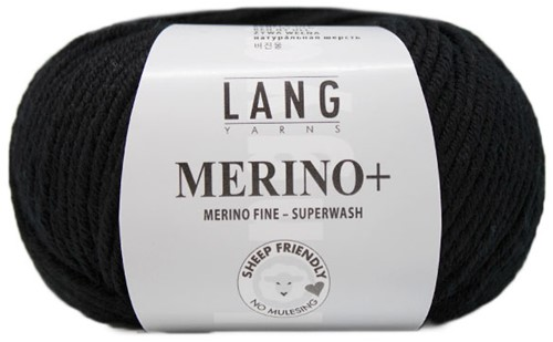 Lang Yarns Merino+ 004 Black