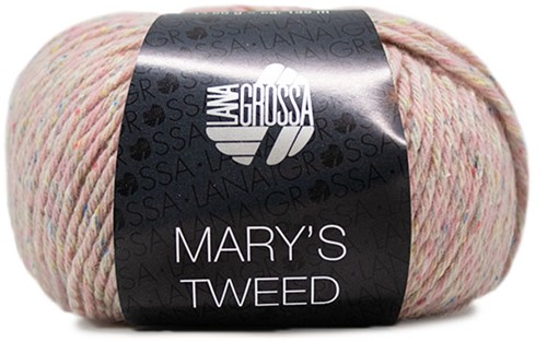 Lana Grossa Mary's Tweed 004 Rose Mottled