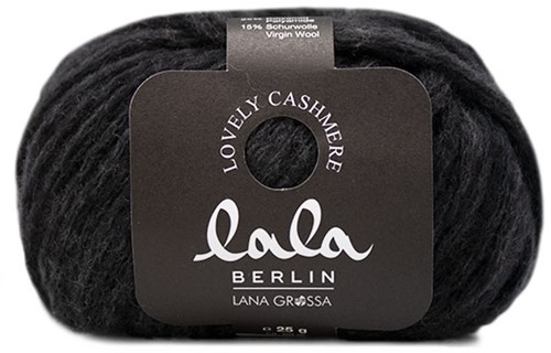 Lana Grossa Lala Berlin Lovely Cashmere 006 Anthracite