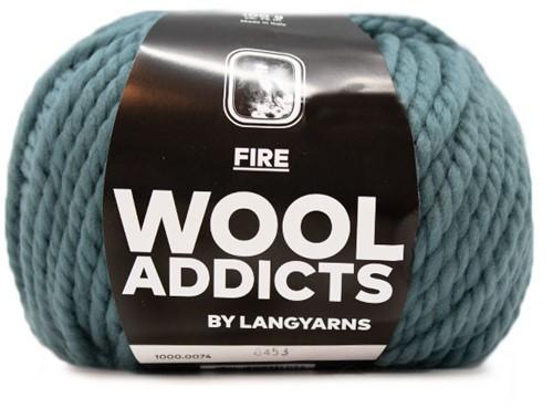Wooladdicts Be Golden Sweater Knit Kit 2 XL Atlantic