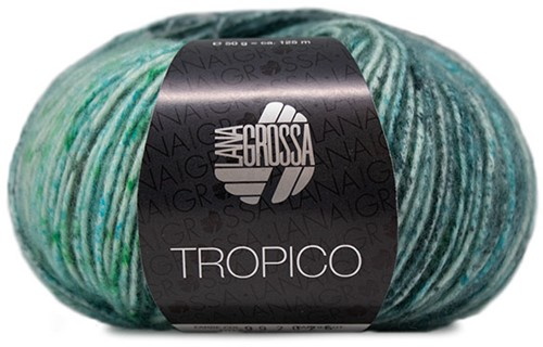 Lana Grossa Tropico 007 Turquoise / Petrol / Ice Blue / Brown / Smaragd / Grey-Green / Dark Grey