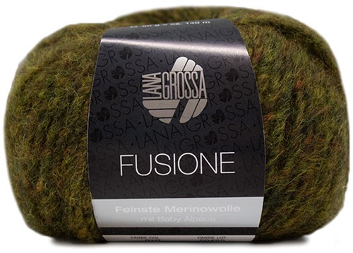Lana Grossa Fusione 010 Olive / Anthracite Mixed