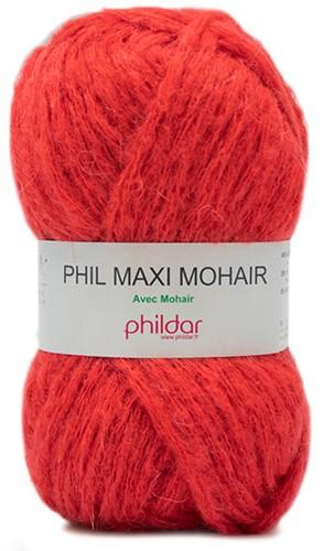 Phildar Phil Maxi Mohair 0115 Vermillon
