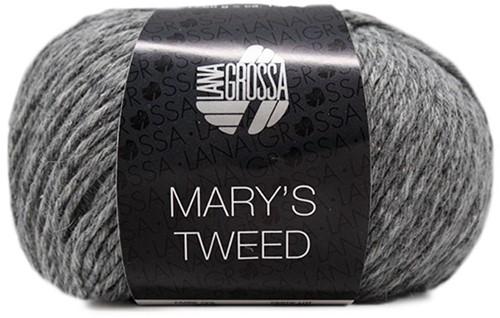 Lana Grossa Mary's Tweed 013 Gray Mottled
