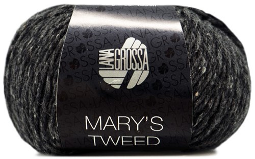 Lana Grossa Mary's Tweed 014 Anthrasite Mottled