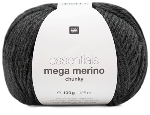 Rico Essentials Mega Wool Chunky 015 Anthracite