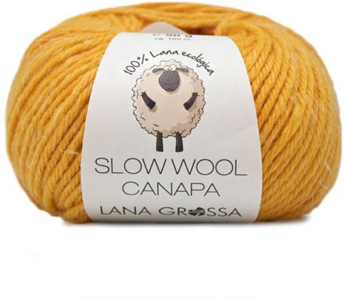 Lana Grossa Slow Wool Canapa 15 Saffron Yellow