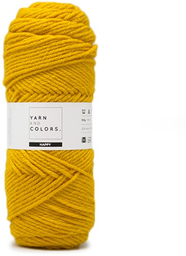 Yarn and Colors Maxi Cardigan Crochet Kit 3 L/XL Mustard