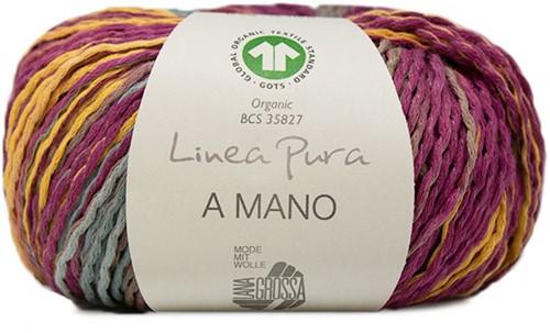 Lana Grossa A Mano 016 Yellow / Mint / Zyklam / Taupe