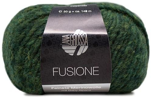 Lana Grossa Fusione 016 Dark Green / Anthracite Mixed