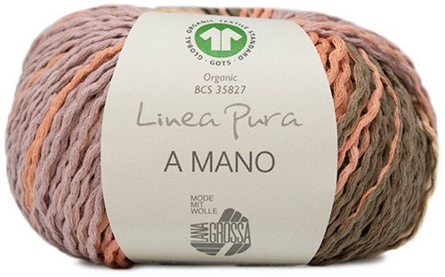 Lana Grossa A Mano 017 Sering / Salmon / Khaki