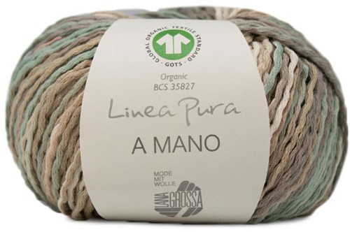 Lana Grossa A Mano 018 Grey-Brown / Khaki / Beige / Sand / Green-Grey