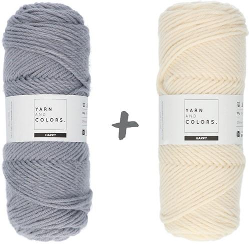 Dream Roll Cushion 4.0 Crochet Kit 01 Shark Grey & Cream