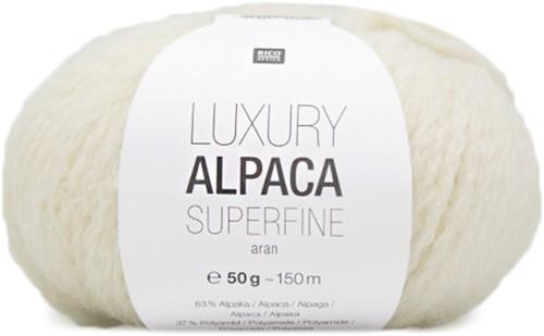 Rico Luxury Alpaca Superfine Aran 1 Cream