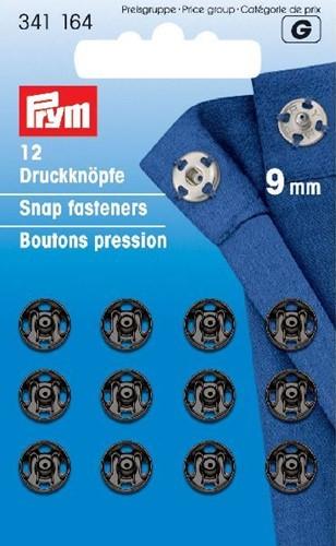 Prym Snap Fasteners black 9 mm