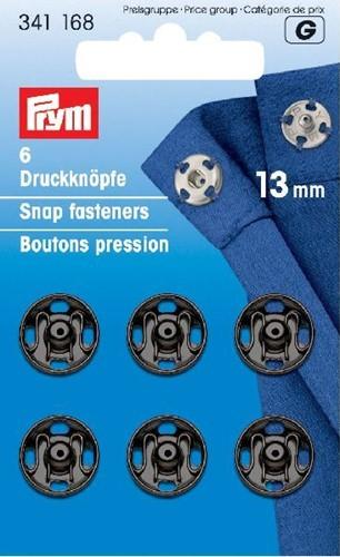 Prym Snap Fasteners black 13mm
