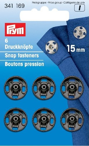 Prym Snap Fasteners black 15mm