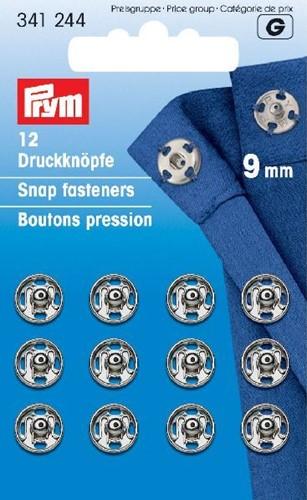 Prym Snap Fasteners silver 9mm