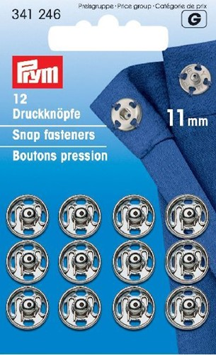 Prym Snap Fasteners silver 11mm
