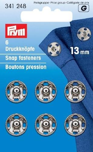 Prym Snap Fasteners silver 13mm