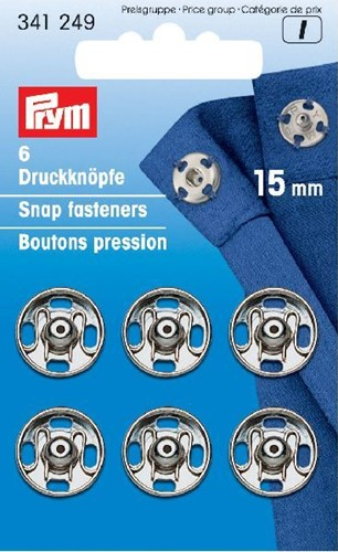 Prym Snap Fasteners silver 15mm