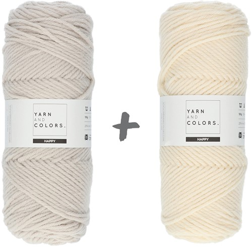 Dream Roll Cushion 4.0 Crochet Kit 02 Birch & Cream