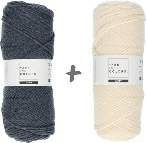 Dream Blanket 4.0 KAL Knitting Kit 4 Graphite & Cream