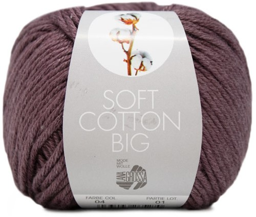 Lana Grossa Soft Cotton Big 4 Aubergine