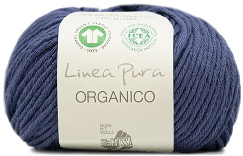 Lana Grossa Organico Uni 057 Jeans Blue