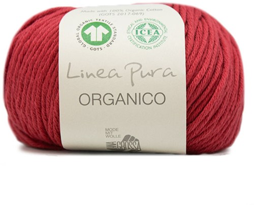 Lana Grossa Organico Uni 058 Red