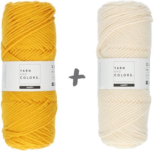 Dream Blanket 4.0 KAL Knitting Kit 5 Mustard & Cream