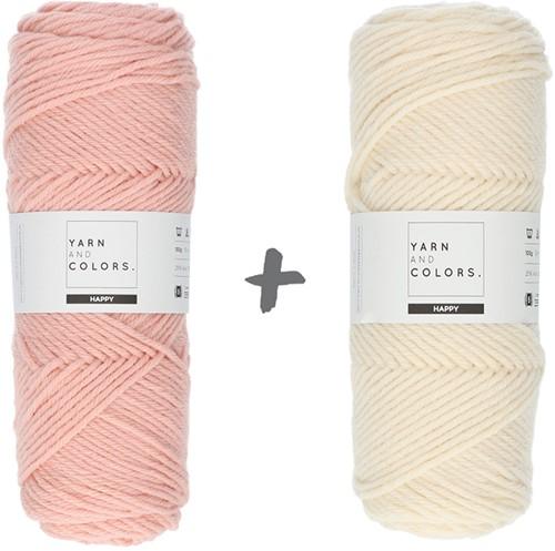 Dream Roll Cushion 4.0 Crochet Kit 06 Rosé & Cream