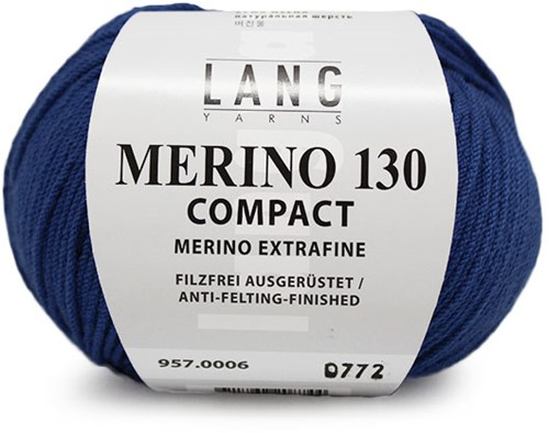 Lang Yarns Merino 130 Compact 06 Blue