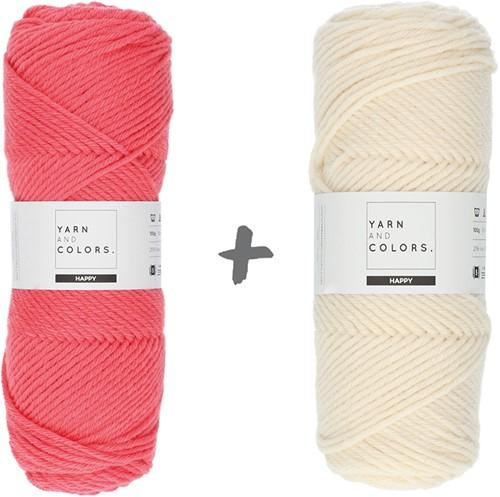 Dream Blanket 4.0 KAL Knitting Kit 7 Pink Sand & Cream