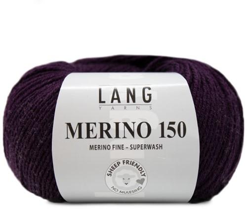 Lang Yarns Merino 150 080 Aubergine