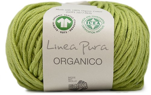 Lana Grossa Organico Uni 091 Yellow/Green