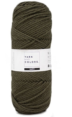Yarn and Colors Maxi Cardigan Crochet Kit 11 L/XL Khaki